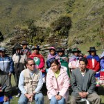 Peruvian villagers with Scientists.