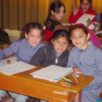 Jordanian Girls in Classroom Smilling